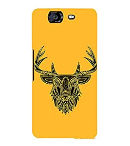 Indian Deer Graphics 3D Hard Polycarbonate Designer Back Case Cover for Micromax Canvas Knight A350