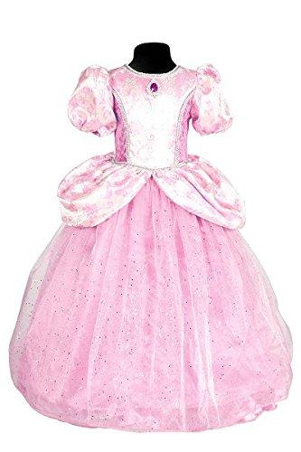 Rosa Fantasy Märchen Kostüm - Thetru 2122 Kinderkostüm Prinzessin mit Blinklichtern