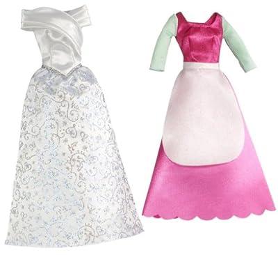 Disney T7233 - Set de 2 vestidos de princesa para muñeca de Cenicienta de Disney Princesses