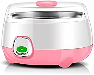 HSR Plastic and Stainless Steel 1L Automatic Yogurt Maker (Assorted, 170x170x120mm)