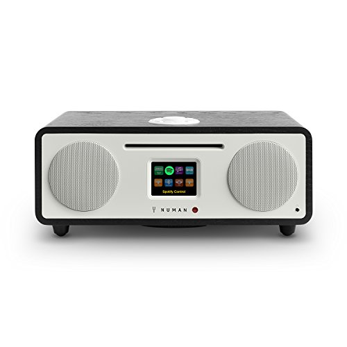 NUMAN Two 2.1 • Radio por Internet • Sintonizador Dab / Dab+ y FM • Spotify Connect • Reproductor CD • Pantalla TFT • WiFi / LAN • Bluetooth • AUX • 2 Altavoces de Banda Ancha • Subwoofer • Negro