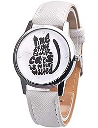 ZXMBIAO Reloj De Pulsera Relojes De Cuarzo Relojes De Mujer Moda De Gatos Lindos, F