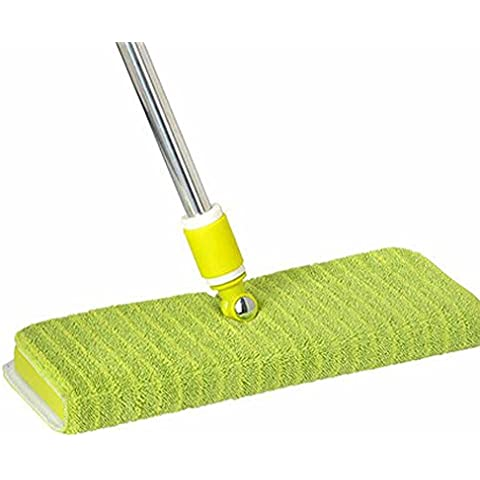 Stylish double-sided flat MOP, stainless steel rod home wood flooring special spin MOP, Microfiber Pinto