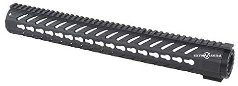 Vector Optics Tactical 16.5 Inch AR 15 M4 M16 KeyMod Handguard Picatinny Rail Mount Carbon Fiber Glass Polymer Light