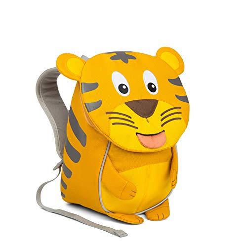 Affenzahn Kinderrucksack mit Brustgurt Timmy Tiger für 1-3 Jährige Jungen und Mädchen im Kindergarten oder Kita - Gelb