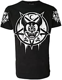 Mickey 666 Genuine Darkside T Shirt homme Nu style gothique Occulte Satanic autres vêtements Disney