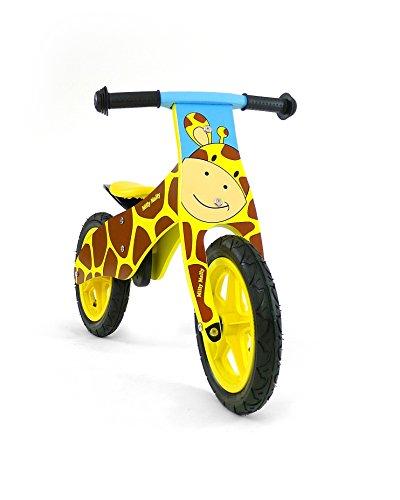 Preisvergleich Produktbild Kinder Laufrad aus Holz, Rädern 12 Zoll mit Luftreifen (Ventil) - verschiedene Designs , Model:Giraffe