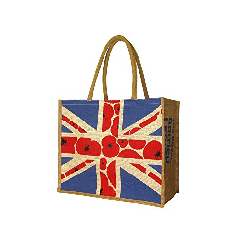 The Royal British Legion Union Poppy Jute Bag