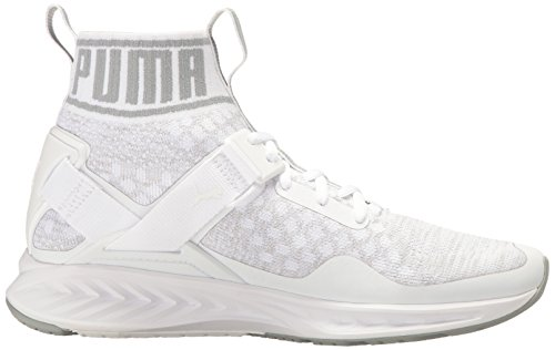 Puma Ignite EvoKnit Textile Turnschuhe White-Quarry-Vaporous Gray