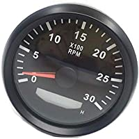 Resistente al agua tacómetro Rev Contador Medidor de RPM con hora medidor 0–3000rpm 85mm 9–32V con retroiluminación