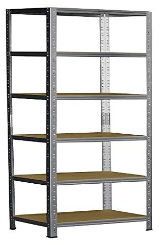 Steckregal 200x120x40 cm verzinkt 6 Böden Kellerregal Metallregal Regal Regalsysteme Lagerregal