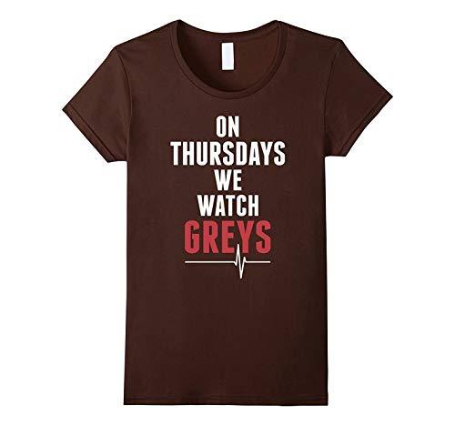 ON Thursdays We Watch Greys Anatomy Black T Shirt Short Sleeves Round Neck  Women T- 78d3c86efa1