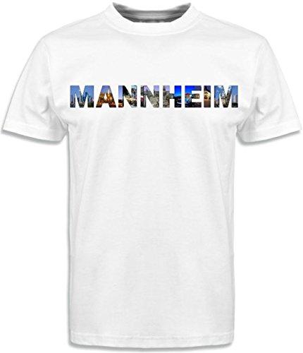 T-Shirt mit Städtenamen Mannheim Weiß