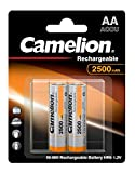 Camelion 17025206 Akku (NiMH, R6, Mignon, AA, 2500 mAh, inkl. Aufbewahrungsbox geeignet für 4 x Akkus) 2er-Pack