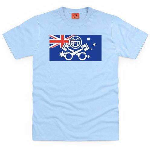 PistonHeads Australia T-Shirt, Herren Himmelblau