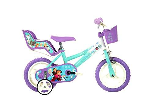 "Dino Bikes 126RL-FZ Niñas Ciudad Acero Azul, Púrpura, Color Blanco bicicletta - Bicicleta (Vertical, Ciudad, Acero, Azul, Púrpura, Blanco, 30,5 cm (12""), Cadena)"