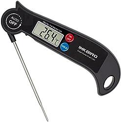 Inkbird Digitale Faltbare Räucherthermometer Temperaturfühlern Magneten Kochthermometer Thermometer für Milch Fleisch Kochen, Süßigkeiten Grill BBQ Braten