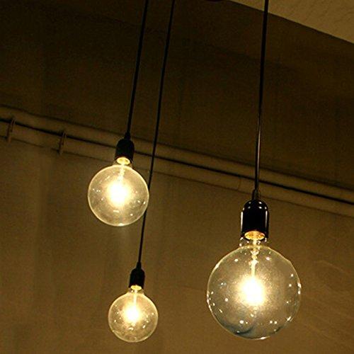 3-testa lampada a sospensione vintage edison soffitto apparecchio a sospensione e27 industrial light lampada nero regolabile lampadario