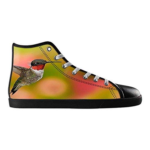 Dalliy Hummingbird And Flower Men's Canvas shoes Schuhe Lace-up High-top Sneakers Segeltuchschuhe Leinwand-Schuh-Turnschuhe A