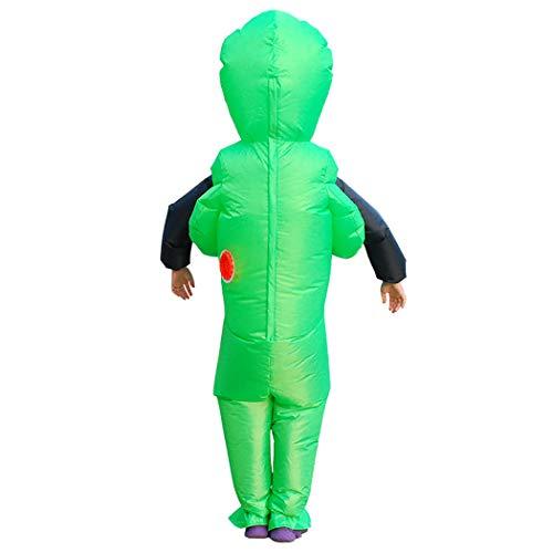 FunPa Aufblasbare Halloween Kostüm Fancy Dress Party Cosplay Kostüm Aufblasbare ET Green Ghost Hugs für Karneval