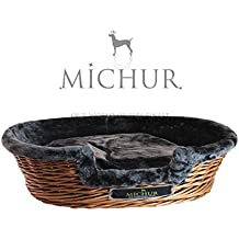 MICHUR LUMPI TABAK, Cama del perro, cama del gato, cesta del gato, cesta del perro, sauce, cueva, mimbre, marrón