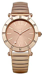 Lipsy Women's Quartz Watch with Rose Gold Dial Analogue Display and Rose Gold Alloy Bracelet LP100