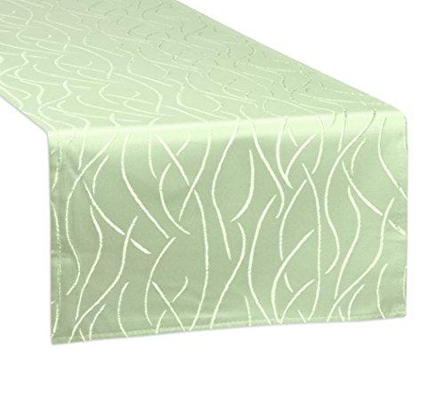 Tischläufer, FARBE und GRÖßE wählbar, Streifen Tischband, eckig 40x140 cm, Antikgrün, Beautex (Grüne Streifen Wein)
