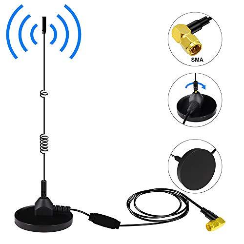 Upgrade DAB Auto Antenne,Universal SMA DAB+ Antennen Adapter mit Digitaler Radioantenne mit Leistungsstarker Magnetischer +3M Verlängerungskabel für AM FM Autoradio Unterstützung für die Innenmontage (/ Am Fm Indoor Antenne)