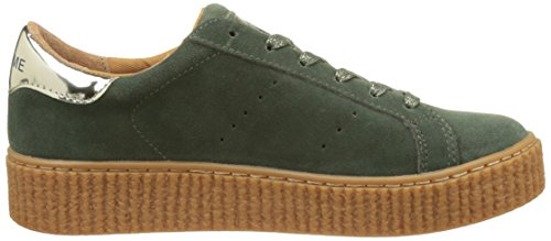 No Name Picadilly Sneaker, Baskets Basses Femme Vert (Cèdre)