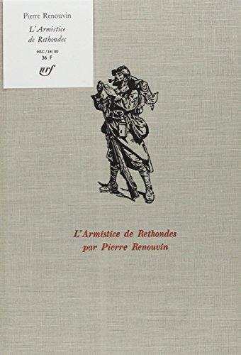 Descargar Libro L'Armistice de Rethondes de Renouvin
