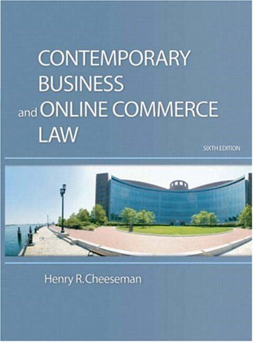 Contemporary Business and Online Commerce Law: United States Edition