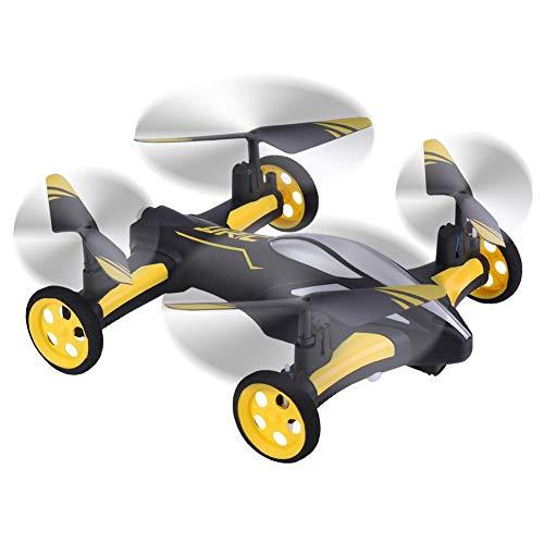 RC Drone Quadcopter, Luft-Land Fliegendes Auto 2,4 GHz Fernbedienung Spielzeug(Gelb)