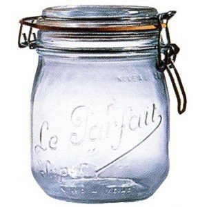 Le Parfait French Glass Canning Jar with 85mm Gasket and Lid - 3/4 (.75) Liter by Home Naturals - Glas Canning Jar