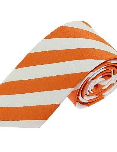 WZW Herren Hals-Binder - Retro / Party / Büro / Freizeit Polyester Gestreift-Orange Ganzjährig ONESIZE-ORANGE