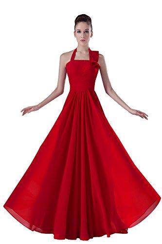 Bridal_Mall -  Vestito  - linea ad a - Senza maniche  - Donna Rosso