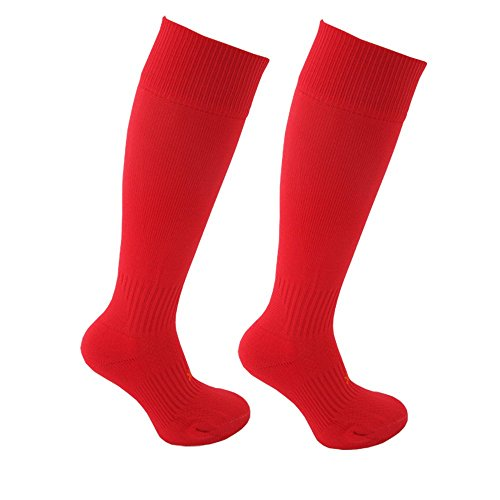 Little Grippers Rot Kinder Unisex Sport Socken mit Stay On Technology (Large 14+ Jahre/ Schuhgröße 40-46 ) (Gripper Socken)