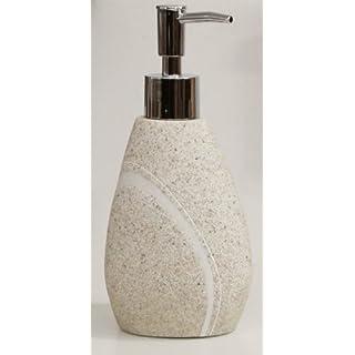 Hochwertiger Seifenspender-Lotionsspender -Modell: Little Rock-Farbe: BEIGE -Stone Optik-AWD Design