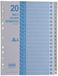 Solo SP 220 Separator / Divider (Set of 20) - Uni Colour A4 - Grey