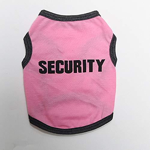 LNLW Hundebaumwollhemd Pet Vest Printing Shirt for Hundekleidung (Farbe : Rosa, Size : XS) (Lustig Pommerschen Kostüm)