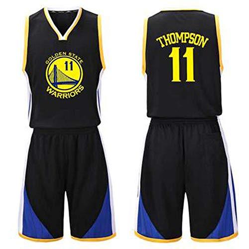 GY Klay Thompson # 11 Herren Basketball Trikot XS-XXXL, 90er Jahre Kleidung Throwback Kostüm Bekleidung Bekleidung - Top Bonus Combo Set mit Armbändern-5-XS