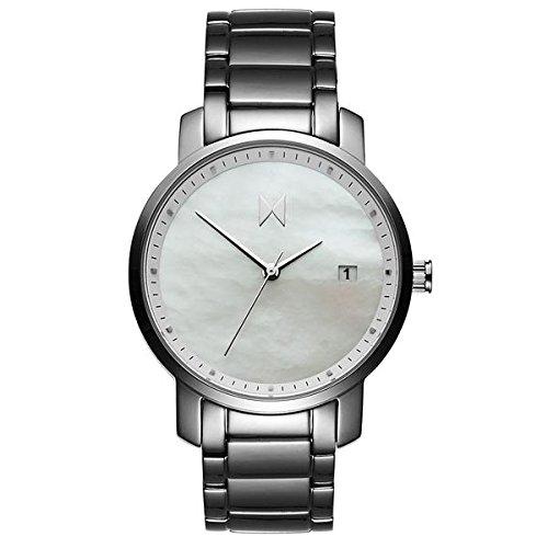 MVMT Damen watch Uhr Female Silver Pearl poliertes Edelstahl Armband MF01-S