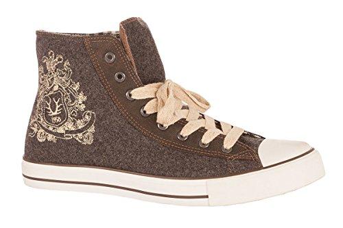 Trachten Herren Schuh - BENNY - anthrazit, Größe 42