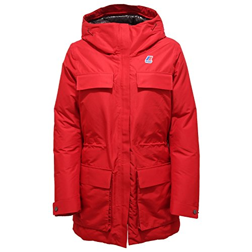 4411R piumino donna K-WAY INES THERMO HEAVY rosso jacket woman [8/S]