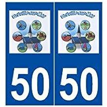 50 bréville-sur-mer Logo autoadhesivo placa adhesivos ciudad