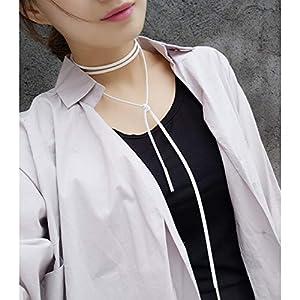 XUHAHAXL Halskette/Mode-Accessoires, Einfache Strickwolle, Freie Anpassung Der Langen Hals Pullover Halskette.