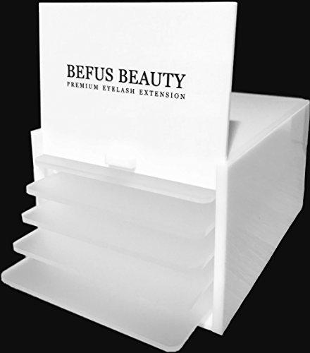 Aufbewahrungsbox für 5 Wimpernunterlagen Wimpern Lashes Organizer Wimpernverlängerung (Box mit 5 Platten) (Platte-aufbewahrungsbox)