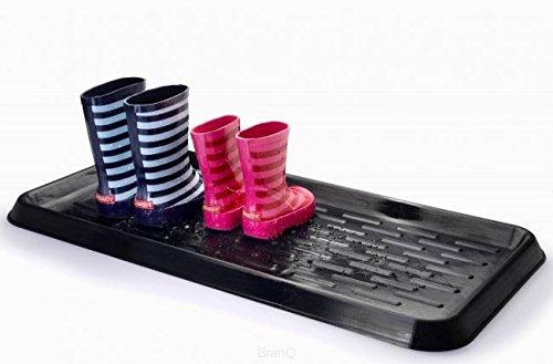 BranQ Schuhablage aus Kunststoff für optimalen Schutz vor Nässe und Schmutz 78*38*3cm, schwarz