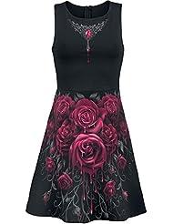 Spiral Blood Rose Robe noir