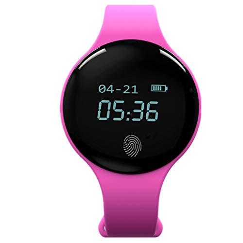 Smart-Armband/Dorical Fitness-Aktivitätsarmband mit Schrittzähler, Sportuhr Fitness-Tracker, Schlaf-Herzfrequenz-Monitor, Anruf SMS, Touchpad Bluetooth Watch, für Android iOS(Rosa)