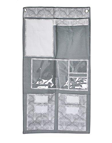 Hängeorganizer Multifunktion Wand hängende Aufbewahrungstasche Utensilientasche mit 2 Haken Faltbare Türtasche Türregal für Schlafzimmer Badezimmer